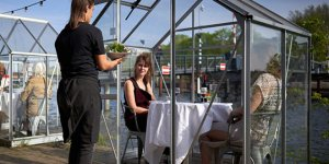 Mediamatic Creates Serres Sépparées, A Covid-Free Outdoor Greenhouse Dining Experience