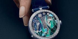 Van Cleef & Arpels timepieces set the Garden Of Wings alight